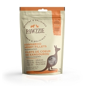Pawzzie Kangaroo Heart Fillets Dehydrated Dog Treats, 3.5-oz Bag