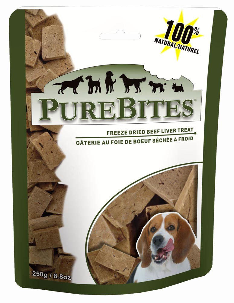 PureBites Beef Liver Freeze-Dried Dog Treats, 16.6-oz Bag