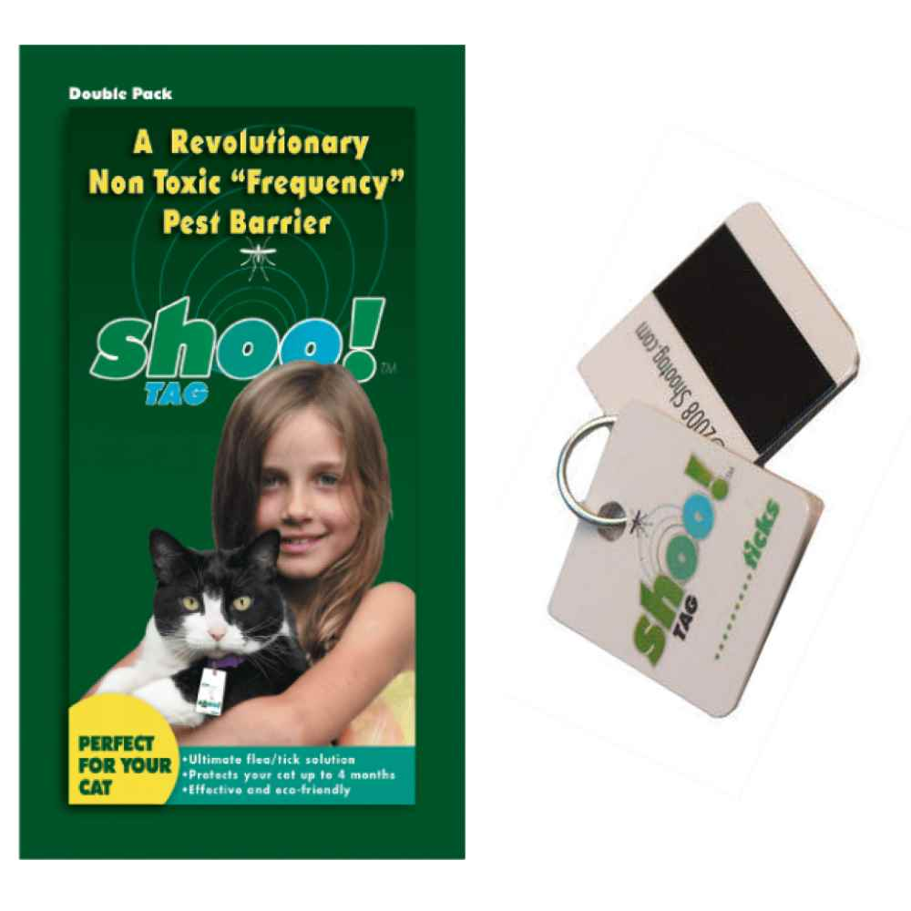 Shoo! Tag Cat Flea Tick Repellent, Double Pack