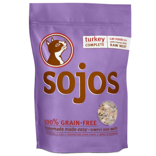 Sojos Complete Turkey Freeze-Dried Cat Food, 4 lb