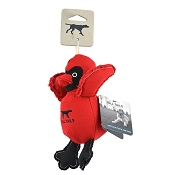 Tall Tails Canvas Cardinal with Squeaker Plush Dog Toy