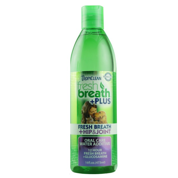 TropiClean Fresh Breath Water Additive + Plus Hip & Joint for Dogs