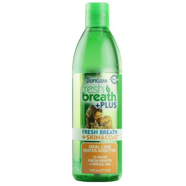 TropiClean Fresh Breath Water Additive Plus Skin & Coat Health for Dogs