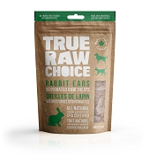 True Raw Choice Dehydrated Rabbit Ears for Dogs & Cats, 2-oz Bag