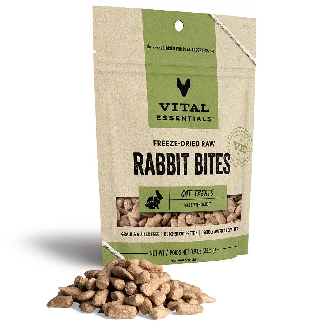 Vital Essentials Vitalcat Rabbit Bites Freeze Dried Cat