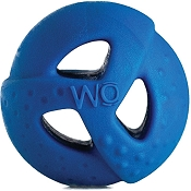 WO Ball USA Dog Toy, Blue