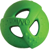 WO Ball USA Dog Toy, Green