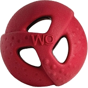 WO Ball USA Dog Toy, Red