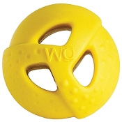 WO Ball USA Dog Toy, Yellow