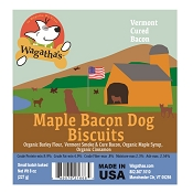 Wagatha's Maple Bacon Recipe Dog Biscuits, 8-oz Bag