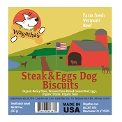 Wagatha's Steak & Eggs Recipe Dog Biscuits, 8-oz Bag