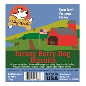 Wagatha's Turkey Berry Recipe Dog Biscuits, 8-oz Bag
