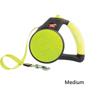 Wigzi Retractable Reflective Gel Leash for Dogs, Medium