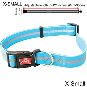 Wigzi Weatherproof Dog Collar, Blue, X-Small