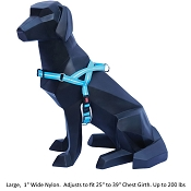 Wigzi Weatherproof Dog Harness, Blue, Large