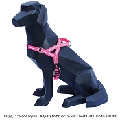 Wigzi Weatherproof Dog Harness, Pink, Large