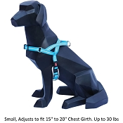 Wigzi Weatherproof Dog Harness, Blue, Small