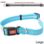 Wigzi Weatherproof Dog Collar, Blue, Large