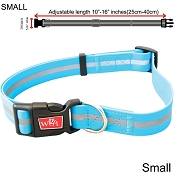 Wigzi Weatherproof Dog Collar, Blue, Small