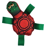 American Dog Tommy Turtle Made in USA Dog Toy, Medium, Colors Vary
