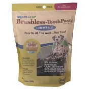 Ark Naturals Breath-Less Brushless Toothpaste Dog Chews, Large