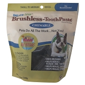 Ark Naturals Breath-Less Brushless Toothpaste Dog Chews, Small to Medium