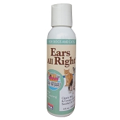Ark Naturals Ears All Right Dog & Cat Gentle Cleaning Solution, 4-oz bottle