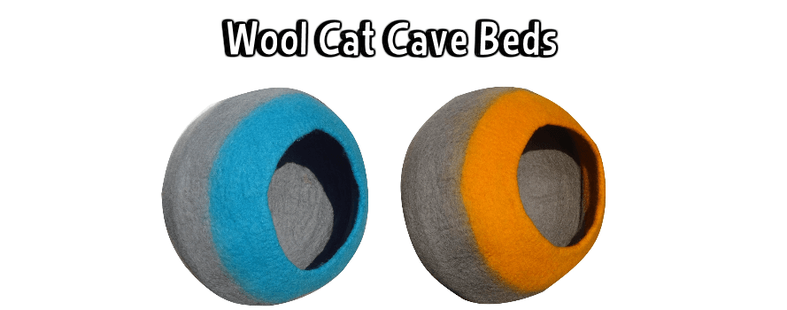 Lollycadoodle Wool Cat Cave Beds