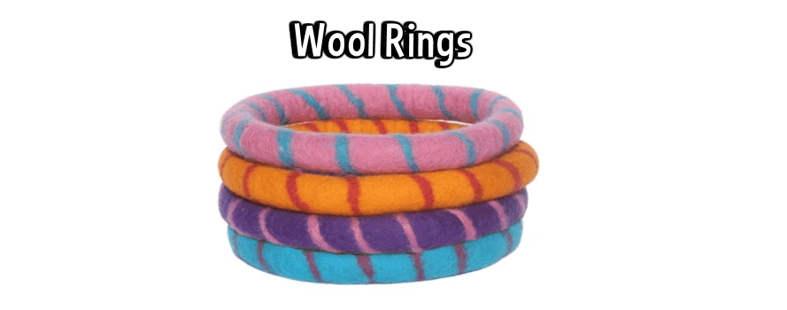 Lollycadoodle Wool Rings Dog Toys