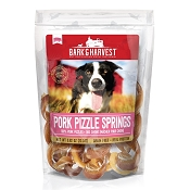 Bark & Harvest Pork Pizzle Springs Dog Treats, 5 Count