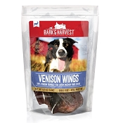 Bark & Harvest Venison Wings Dog Chews, 8-Count