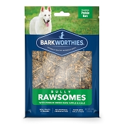 Barkworthies Bully Rawsomes with Freeze-Dried Raw Apple & Kale Dog Treats, 4-oz bag