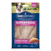 Barkworthies Superfood Jerky Chicken with Cranberry & Blueberry Dog Treats, 4-oz bag