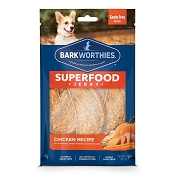Barkworthies Superfood Jerky Chicken with Pumpkin, Sweet Potato & Carrot Dog Treats, 4-oz bag