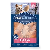 Barkworthies Pig Ear Slices Dog Treats, 12-oz bag