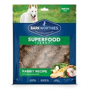 Barkworthies Superfood Jerky Rabbit Recipe with Apple & Kale Dog Treats, 12-oz bag