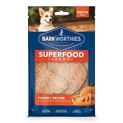 Barkworthies Superfood Jerky Turkey with Pumpkin, Sweet Potato & Carrot Dog Treats, 4-oz bag