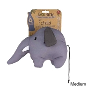 Beco Pets Estella the Elephant Eco-Friendly Plush Dog Toy, Medium