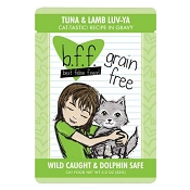 B.F.F. Best Feline Friend Tuna & Lamb Luv Ya Recipe in Gravy Cat Food Pouches