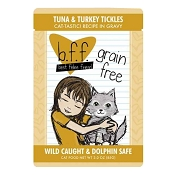 B.F.F. Best Feline Friend Tuna & Turkey Tickles Recipe in Gravy Cat Food Pouches