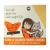 B.F.F. Best Feline Friend Tuna & Salmon Sweet Cheeks Recipe in Gravy Cat Food Pouches