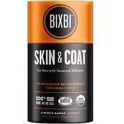 BIXBI Skin & Coat Seasonal Allergy Supplement for Dogs & Cats