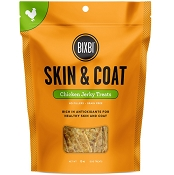 BIXBI Skin & Coat Chicken Jerky USA Dog Treats, 12-oz Bag