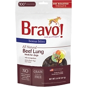 Bravo! Dry Roasted Beef Lung Dog Treats, 2-oz bag