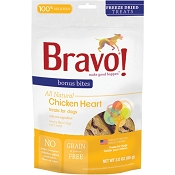 Bravo! Freeze-Dried Chicken Hearts Dog Treats, 3-oz bag
