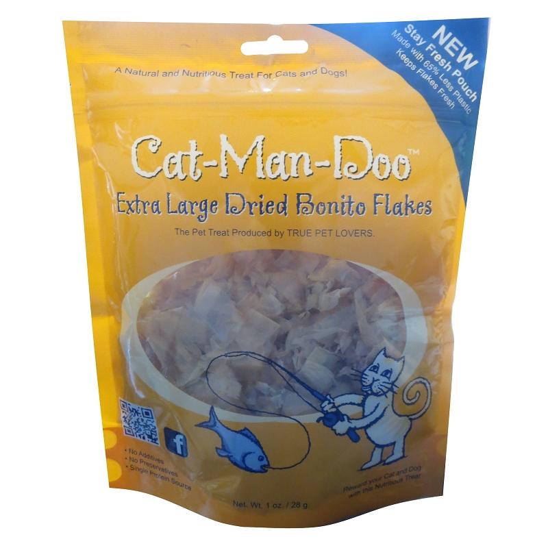 Cat man doo dried bonito flakes cat treats 1 ounces for Bonito fish flakes