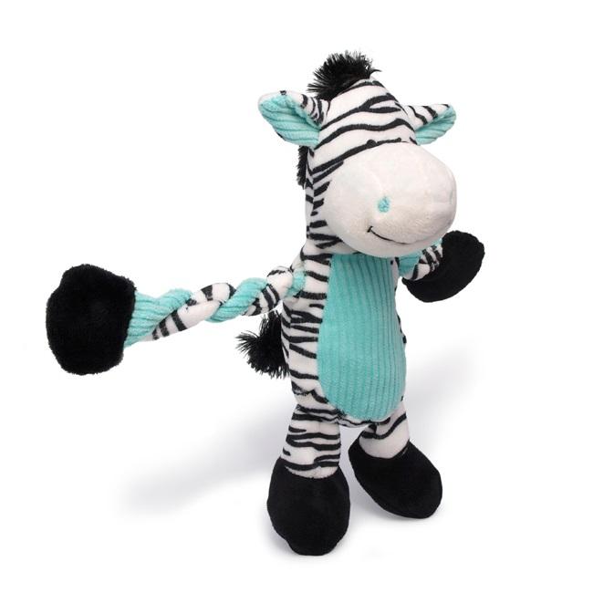Charming Pet Pulleez Zebra Dog Toy Naturalpetwarehouse Com
