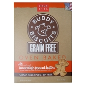 Cloud Star Grain-Free Oven Baked Buddy Biscuits Peanut Butter Flavor Dog Treats