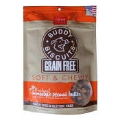 Cloud Star Grain-Free Soft & Chewy Buddy Biscuits Peanut Butter Flavor Dog Treats