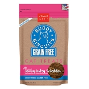 Cloud Star Grain-Free Buddy Biscuits Savory Turkey & Cheddar Flavor Cat Treats